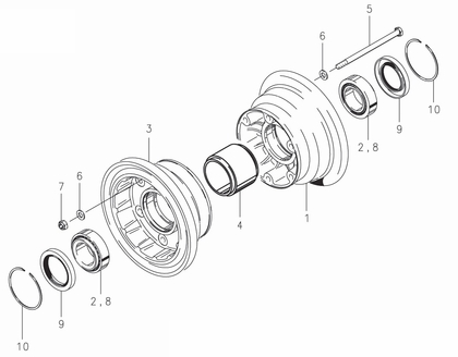 Cleveland 40-426 Wheel Assembly Parts List