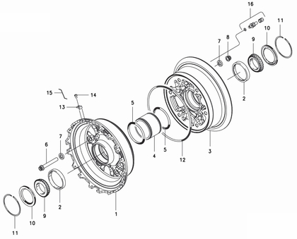 Cleveland 40-434 Wheel Assembly Parts List