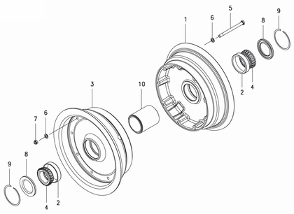 Cleveland 40-455 Wheel Assembly Parts List