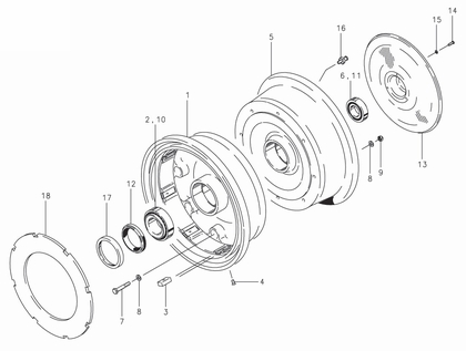 Cleveland 40-46 Wheel Assembly Parts List