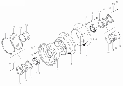 Cleveland 40-5 Wheel Assembly Parts List
