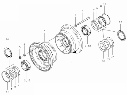 Cleveland 40-56 Wheel Assembly Parts List