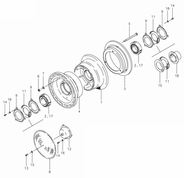 Cleveland 40-6 Wheel Assembly Parts List
