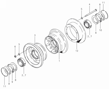 Cleveland 40-60 Wheel Assembly Parts List