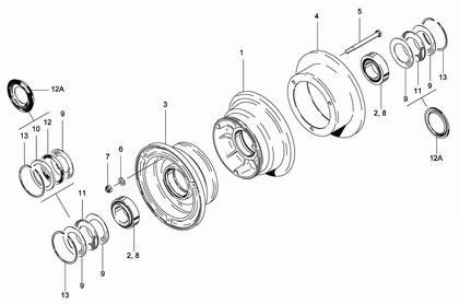 Cleveland 40-84B Wheel Assembly Parts List
