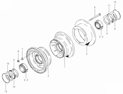 Cleveland 40-96A Wheel Assembly Parts List