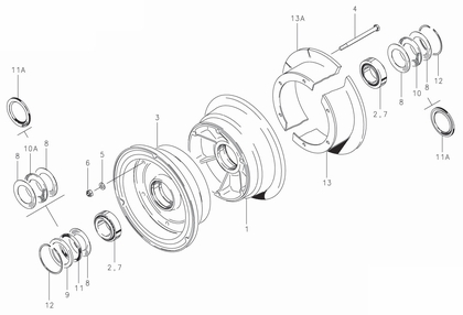 Cleveland 40-98E Wheel Assembly Parts List