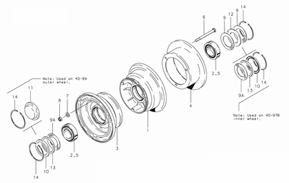 Cleveland 40-99 Wheel Assembly Parts List