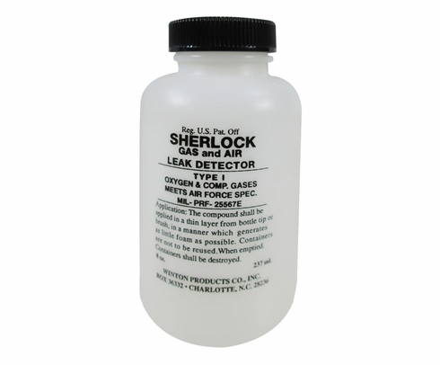 Sherlock T1-DAUBER Type I Oxygen & Compressed Gas Leak Detector - 8 oz Dauber-Top Bottle