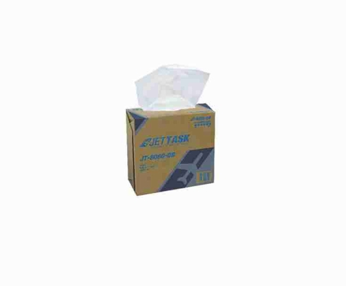 "JETTASK™ JT-8080-DB White 9.1"" x 16.8"" Heavy-Duty Wiping Cloth - 4 Ea - 80 Wipe/Pop-Up Boxes"
