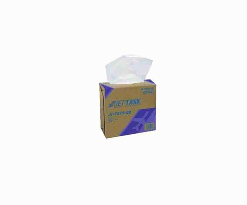 """JETTASK� JT-7070-DB White 9.1"""" x 16.8"""" Medium-Duty Wiping Cloth - 10 Ea - 100 Wipe/Pop-Up Boxes"""