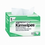 "Kimwipes� 34155 White 4.4"" x 8.4"" Light Duty Delicate Task Wipers - 280 Wipe/Pop-Up Box"