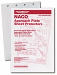 Aviation Supplies & Academics ASA-AP-SP4POLY 4-Ring NACO Approach Plate Sheet Protectors - 10 Pack