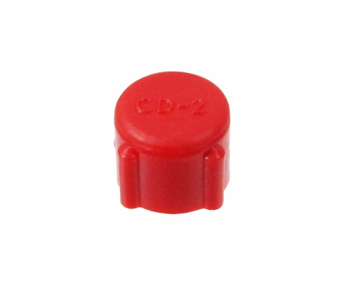 Caplug CD-2 Red 1/4-36 Threaded Plastic Dust & Moisture Cap (CLEARANCE)