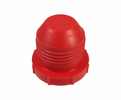 "Caplug PD-120 Red 3/4"" Threaded Plastic Dust & Moisture Plug"
