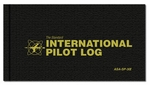 Aviation Supplies & Academics ASA-SP-30I Black Hardcover International Pilot Log Book