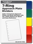 Aviation Supplies & Academics ASA-AP-DIV-7RNG 7-Ring Color Dividers