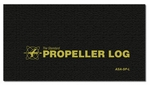 Aviation Supplies & Academics ASA-SP-L Black Softcover Propeller Logbook