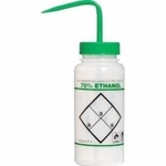 "Bel-Art F11646-0640 ""70% Ethanol"" Safety-Labeled 500 mL (16 fl oz) Wash Bottle (CLEARANCE)"