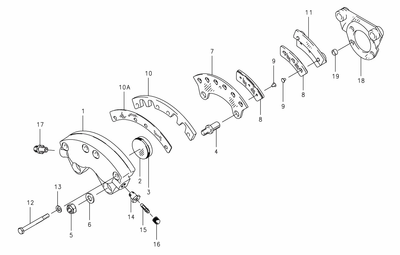 Cleveland 30 41 Brake Assembly Parts List From Skygeekcom
