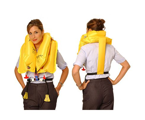EAM Worldwide P0723-1-103 Yellow KSD-35-1 Twin-Cell Life Vest