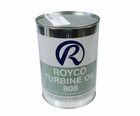 ROYCO� 808 Clear MIL-PRF-7808L Spec Advanced Synthetic Turbine Engine Oil - Quart Can