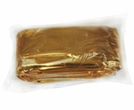 "EAM Worldwide RE1065-1 56"" x 84"" Gold Thermal Space Blanket"