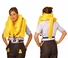 EAM Worldwide P0723-4-101W Yellow KSD-35-4 Twin-Cell Life Vest with Whistle