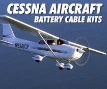 Cessna Low Loss Aircraft Battery Cable Kits