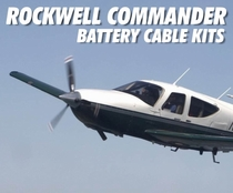 Rockwell Commander Low Loss Aircraft Battery Cable Kits
