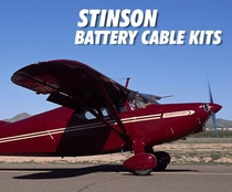 Stinson Low Loss Aircraft Battery Cable Kits