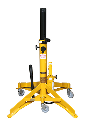 "Meyer Hydraulic A622 TriTask Yellow 6,000 lbs Capacity 22"" to 37.5"" Hydraulic Aircraft Jack"