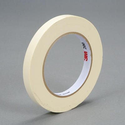 3M™ 048011-53469 Tartan™ 200 Tan Masking Tape - 12 mm x 55 m Roll
