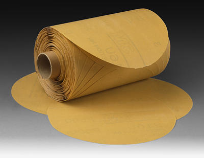 "3M 051141-27414 Stikit Gold 216U Paper Disc Roll - 6"" x NH P80 A-weight"