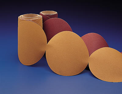"3M 051141-55567 Stikit Gold 236U ""C"" Weight 6"" Sandpaper Discs - 320 Grade"