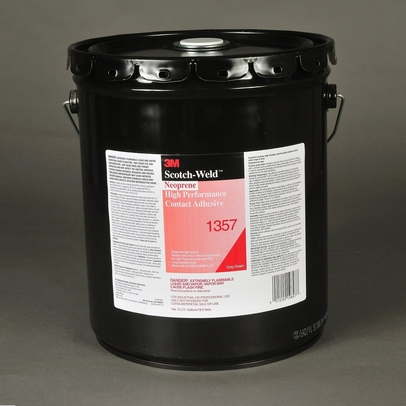 3M™ 021200-19897 Scotch-Weld™ 1357 Gray-Green Neoprene High-Performance Contact Adhesive - 18.9 Liter (5 Gallon) Pail