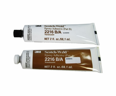 3M 021200-20851 Scotch-Weld Clear 2216 B/A Epoxy Adhesive - 2 oz A+B Tube Kit