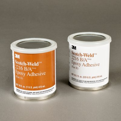 3M 021200-20852 Scotch-Weld Clear 2216 B/A Epoxy Adhesive - A+B Pint Kit