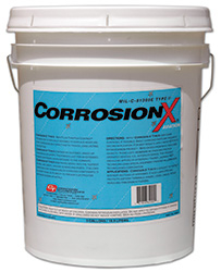 CorrosionX� Aviation 84005 Clear MIL-PRF-81309F Type II, Class II Spec Aviation Corrosion Inhibitor - 5 Gallon Pail