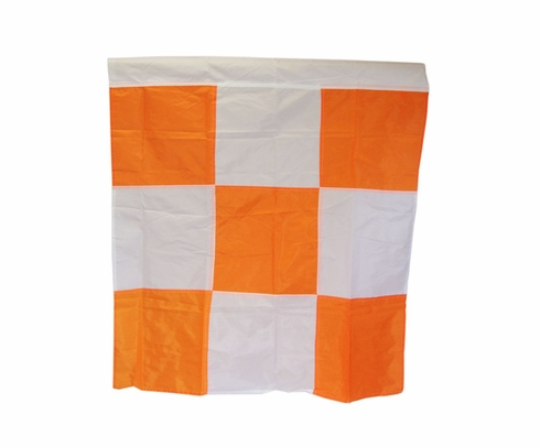 "Safety Flag APF Orange/White Checkered 36"" x 36"" Airport Flag"