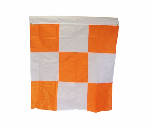 "Safety Flag APF2G Orange/White Checkered 36"" x 36"" with 2 Corner Grommets Airport Flag"