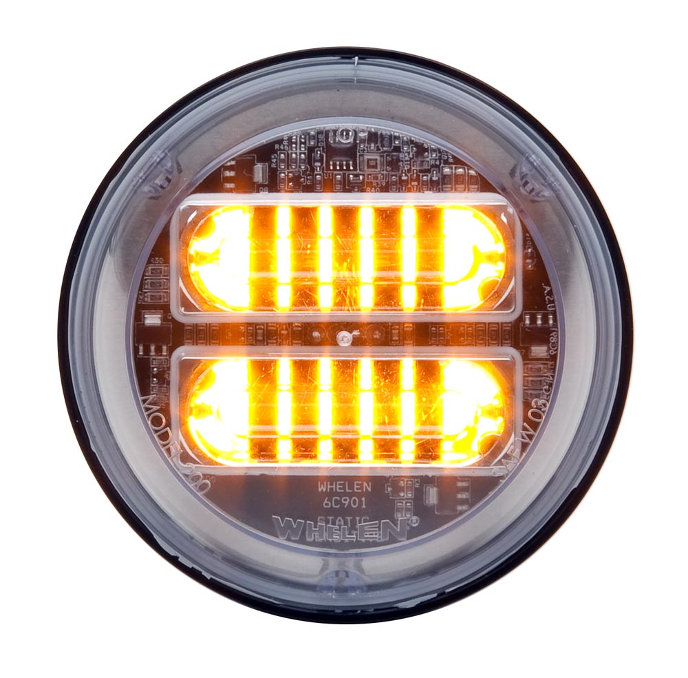 Whelen Round Clear Extended Lens - Amber LED - 2EA00ZCR.