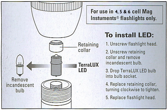 TerraLUX MiniStar5 LED Upgrade for 4-6 cell C&D Maglite Flashlights on ge parts diagram, bosch parts diagram, walther parts diagram, logitech parts diagram, blackhawk parts diagram, canon parts diagram, lg parts diagram, 4l60e rebuild diagram, glock parts diagram, surefire parts diagram, old flashlight diagram, brinkmann parts diagram, zippo parts diagram, karcher parts diagram, peerless parts diagram, gamo parts diagram, lexmark parts diagram, samsung parts diagram, steiner parts diagram, makita parts diagram,
