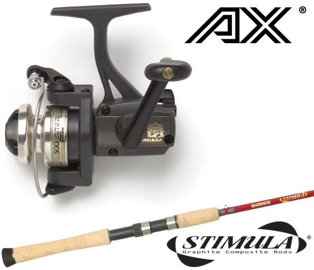 Shimano ax fb stimula spinning combos tackledirect for Cheap fishing rods and reels combo