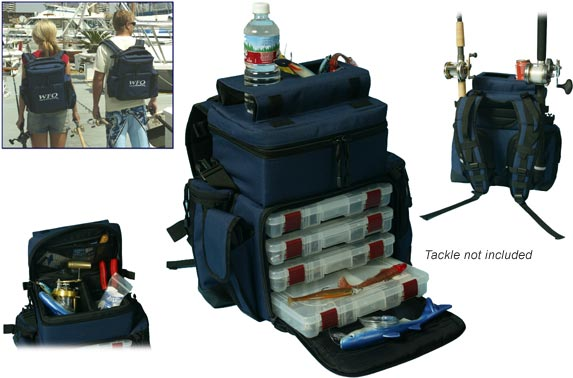 Wfo wfo backpack tackle bag tackle bag tackle bags for Backpack fishing rod