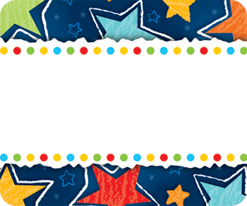 Stars Name Tags By Carson Dellosa Cd150010 Name Tags