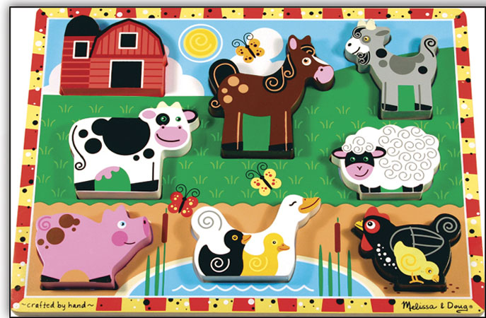 Farm Animals Chunky Puzzle By Lights Camera Interaction