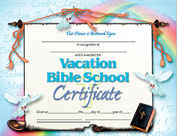 Vacation Bible School Set of 30 Certificates by Hayes ...