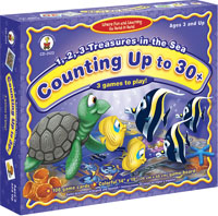 1, 2, 3 Treasures in the Sea Game: Counting Up to 30+ Game by Carson-Dellosa