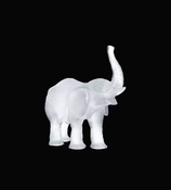 Daum Crystal Elephant Small White